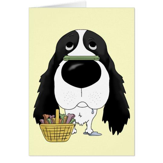 Springer Spaniel - Easter Bone Hunt, Anyone? Card