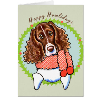 Springer Spaniel Happy Howlidays Card