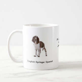 Springer Spaniel Mug - With two images and a motif