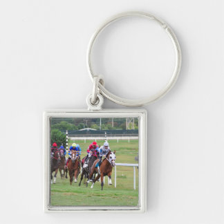 Springer's Point- Frankie Pennington Silver-Colored Square Keychain