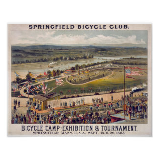 Springfield Bicycle Club Vintage Poster Art