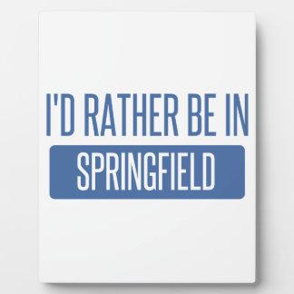 Springfield IL Plaque