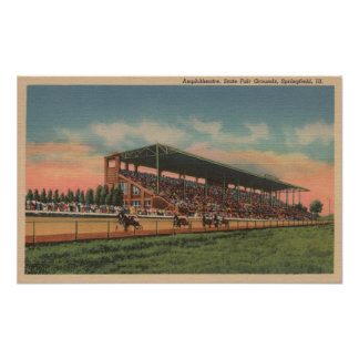 Springfield, IL - State Fair Grounds Horse Poster