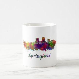 Springfield MA skyline in watercolor Coffee Mug