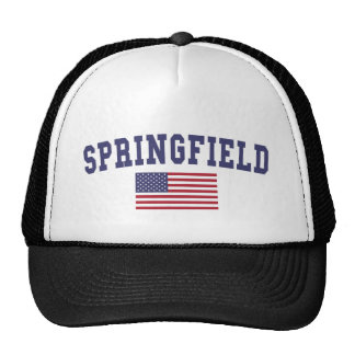 Springfield MA US Flag Trucker Hat