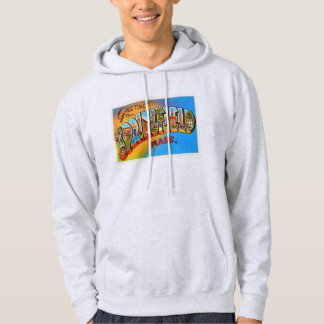Springfield Massachusetts MA Old Travel Souvenir Hoodie
