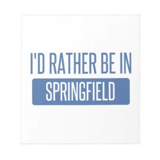 Springfield OH Notepad