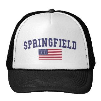 Springfield OH US Flag Trucker Hat