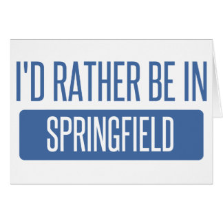 Springfield OR Card