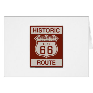 Springfield Route 66 Card