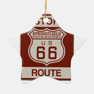 Springfield Route 66 Ceramic Ornament