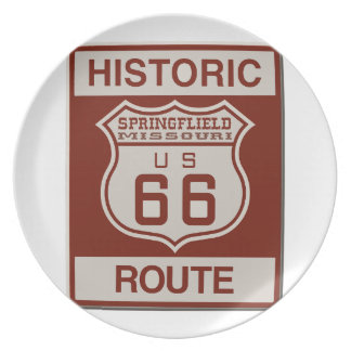 Springfield Route 66 Plate