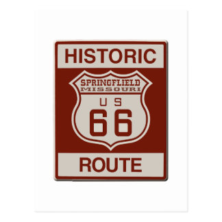 Springfield Route 66 Postcard