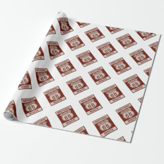 Springfield Route 66 Wrapping Paper