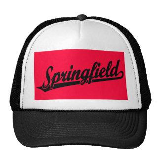 Springfield script logo in black trucker hat