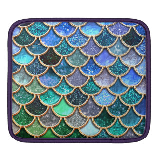 Springlike multicolor Glitter Mermaid Scales iPad Sleeve