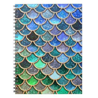 Springlike multicolor Glitter Mermaid Scales Notebook