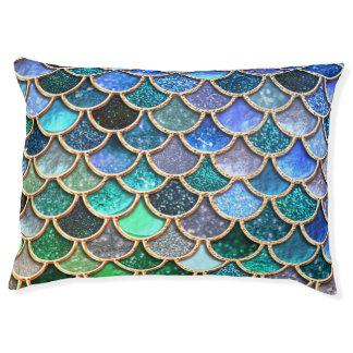 Springlike multicolor Glitter Mermaid Scales Pet Bed