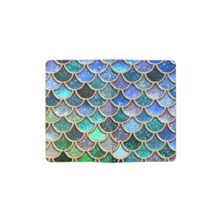 Springlike multicolor Glitter Mermaid Scales Pocket Moleskine Notebook