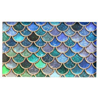 Springlike multicolor Glitter Mermaid Scales Table Card Holder
