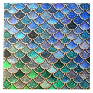 Springlike multicolor Glitter Mermaid Scales Tile