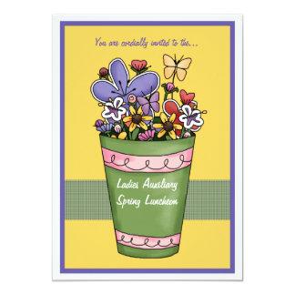 Spring's Burst of Colour Luncheon Invitation