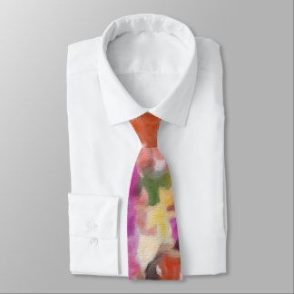 Spring's Fashionable Floral in a Tie