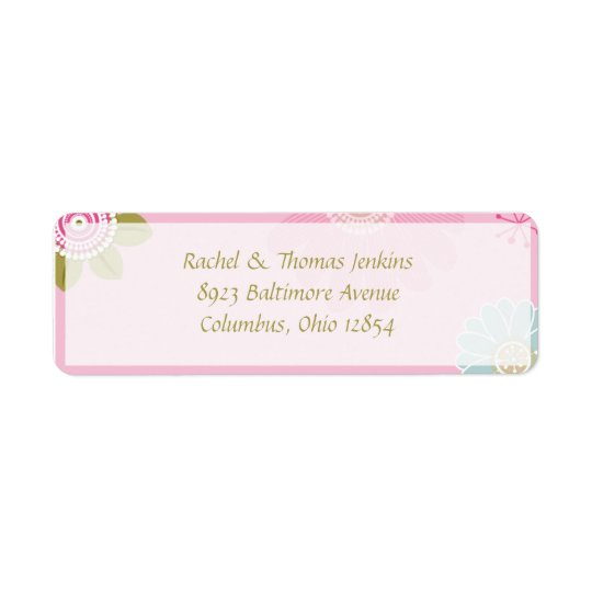 Springtime3 Return Address Label
