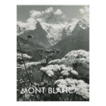 Springtime and snow, Mont Blanc, France Poster