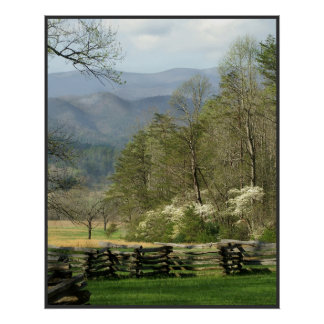 Springtime at the John Oliver Cabin Poster
