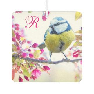 Springtime Bird Monogram Air Freshener