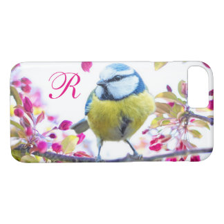 Springtime Bird Monogram iPhone 7 Case
