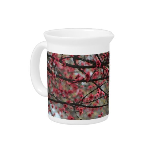 Springtime Buds Watercolor Pitcher