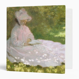 Springtime by Claude Monet 3 Ring Binder