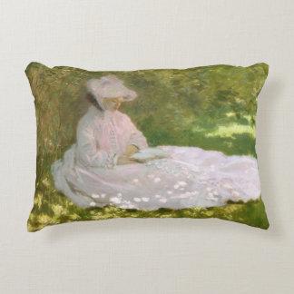 Springtime by Claude Monet Accent Pillow
