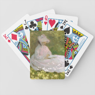 Springtime by Claude Monet Bicycle Playing Cards