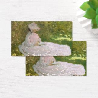 Springtime by Claude Monet Business Card