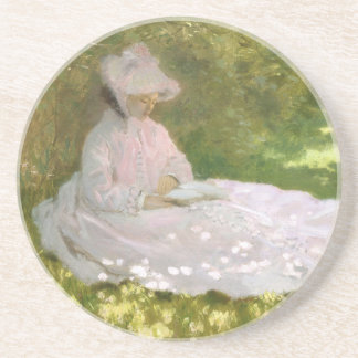 Springtime by Claude Monet Coaster