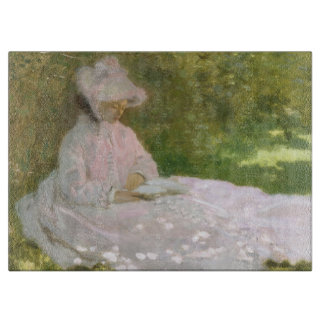 Springtime by Claude Monet Cutting Board