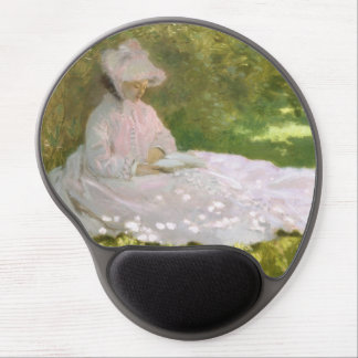 Springtime by Claude Monet Gel Mouse Pad