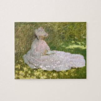 Springtime by Claude Monet Jigsaw Puzzle