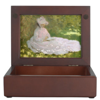 Springtime by Claude Monet Keepsake Box