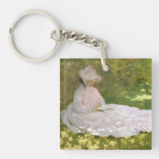 Springtime by Claude Monet Keychain