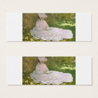 Springtime by Claude Monet Mini Business Card