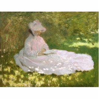 Springtime by Claude Monet Photo Sculpture Button