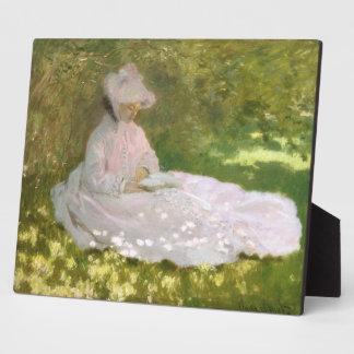 Springtime by Claude Monet Plaque