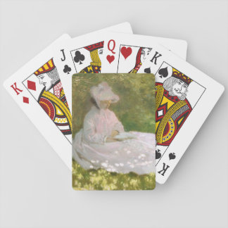 Springtime by Claude Monet Playing Cards