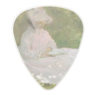Springtime by Claude Monet Polycarbonate Guitar Pick