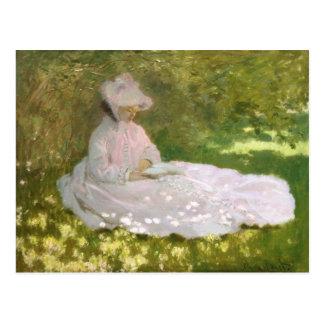 Springtime by Claude Monet Postcard