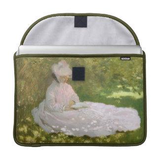 Springtime by Claude Monet Sleeve For MacBook Pro